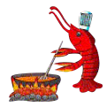 the chef crawfish while he's cooking